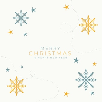 Tarjeta de fondo elegante feliz navidad smowflakes