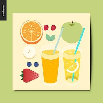 Tarjeta de frutas y bayas