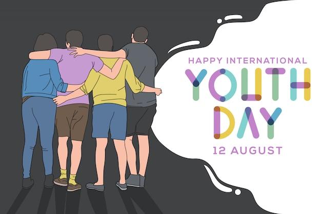 Tarjeta happy international joven