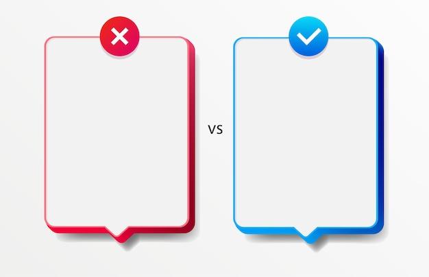 Tarjeta de hechos vs mitos estilo realista aislado sobre fondo blanco verificación de hechos o comparación fácil