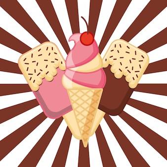 Tarjeta de helado