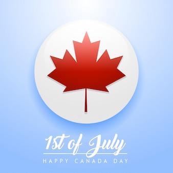 Tarjeta de la hoja de arce canadiense en círculo para el día de canadá c