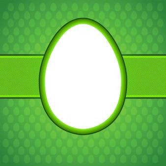Tarjeta de huevo de pascua.