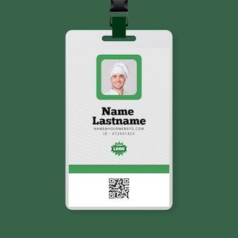 Tarjeta de identificación de alimentos bio y saludables