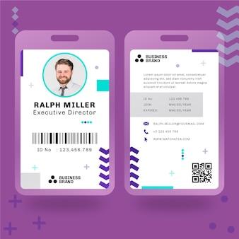 Tarjeta de identificación comercial general