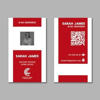 Tarjeta de identificación comercial de marketing