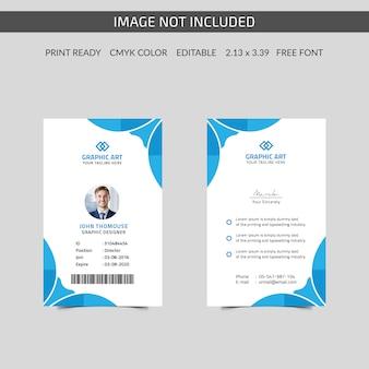 Tarjeta de identificación corporativa