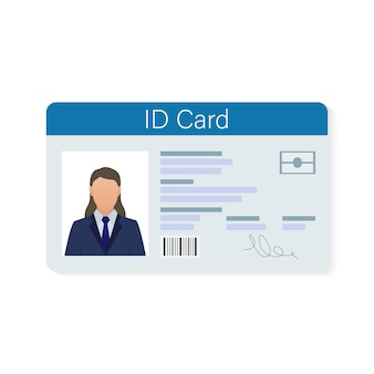 Tarjeta de identificación, ideal para cualquier propósito. . . diseño de plantilla.
