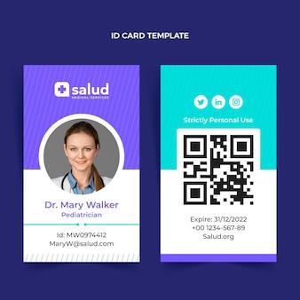 Tarjeta de identificación médica de diseño plano