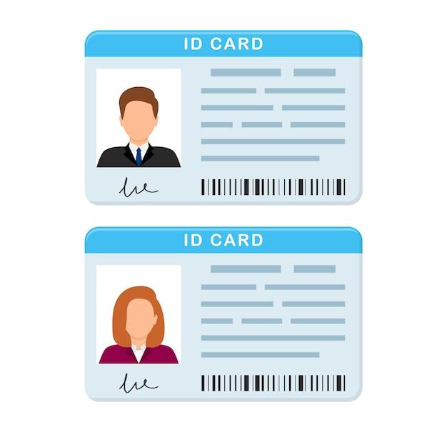 Tarjeta de identificación de plástico tarjeta de identidad personal licencia de conducir verificación de identificación
