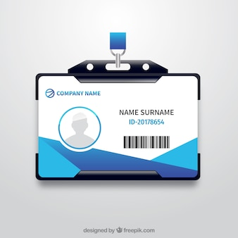 Tarjeta de identificación con soporte de plástico realista