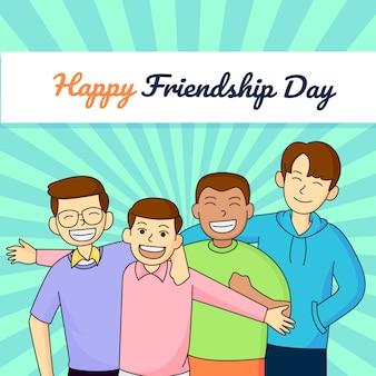 Tarjeta de ilustración del día de la amistad