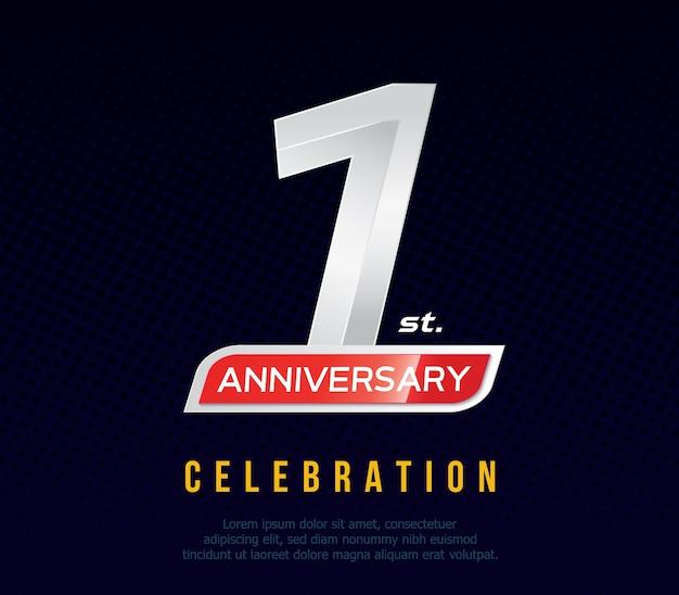 Tarjeta de invitación de aniversario de 1 año