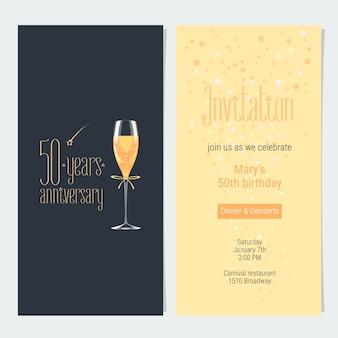 Tarjeta de invitación de aniversario