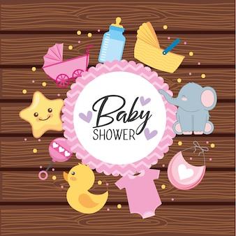 Tarjeta de invitación de baby shower