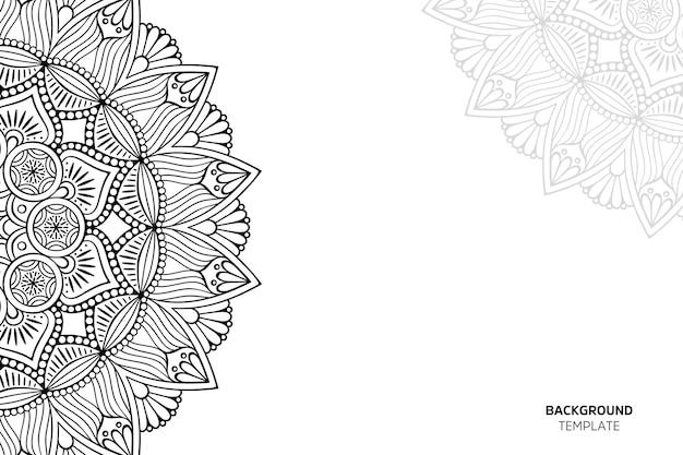 Tarjeta de invitación con backgraund de adornos florales