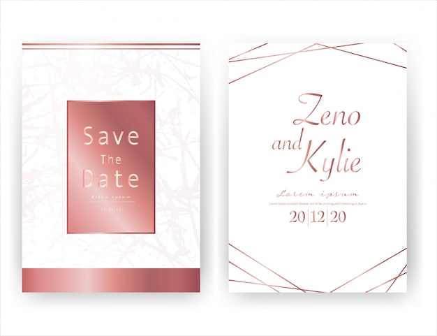 Tarjeta de invitación de boda, ahorre la fecha tarjeta de boda