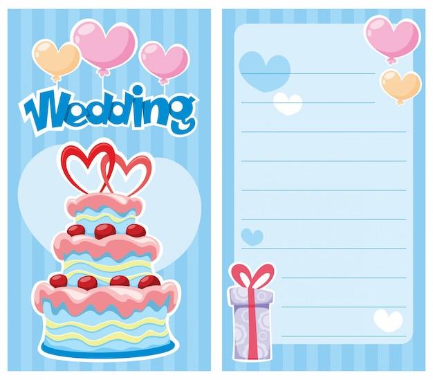 Tarjeta de invitación de boda decorativa