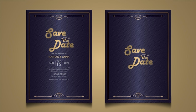 Tarjeta de invitación de boda floral moderna diseño premium