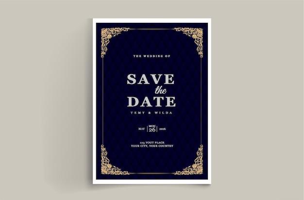 Tarjeta de invitación de boda de lujo guardar la fecha