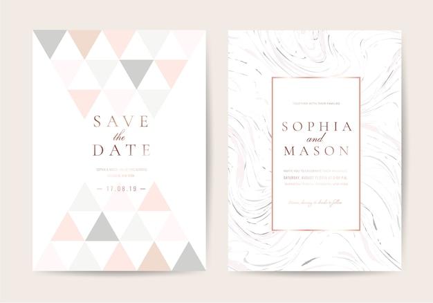 Tarjeta de invitación de boda de lujo