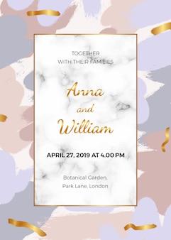 Tarjeta de invitación de boda con rosa