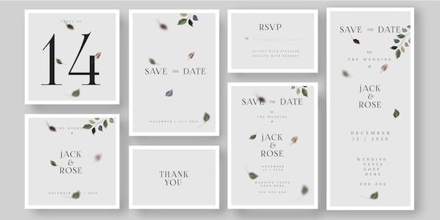 Tarjeta de invitación de boda simple