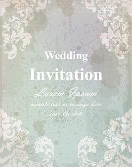 Tarjeta de invitación de boda vintage