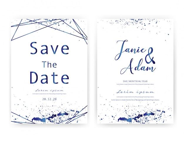 Tarjeta de invitación de boda.