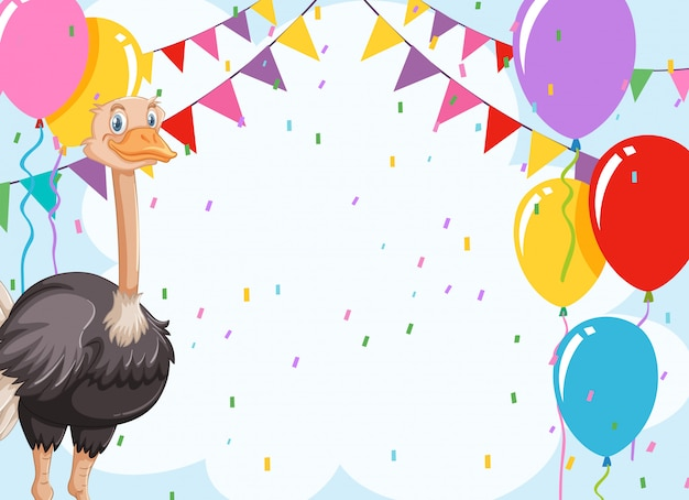 Tarjeta de invitación de celebración de emu