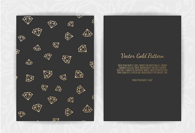 Tarjeta de invitación con diamantes.