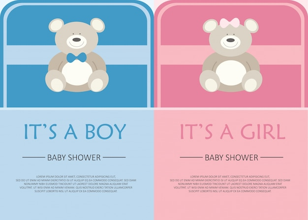 Tarjeta de invitación de la ducha del bebé