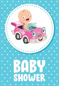 Tarjeta de invitación de felicitación para el evento baby shower