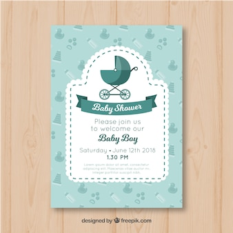 Tarjeta de invitación de fiesta del bebé