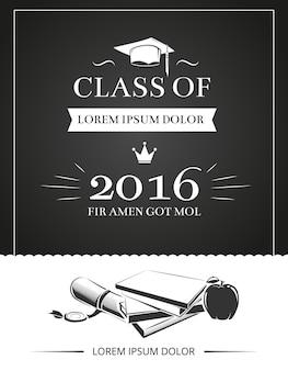 Tarjeta de invitación a la fiesta de graduación
