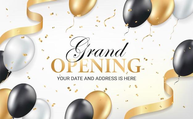 Tarjeta de invitación a la fiesta de inauguración