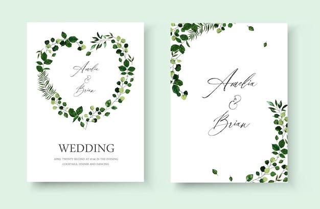 Tarjeta de invitación floral de boda