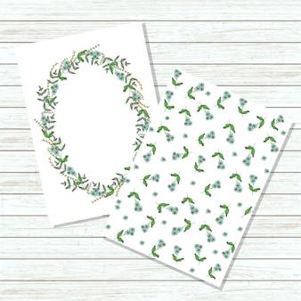 Tarjeta de invitación floral vector