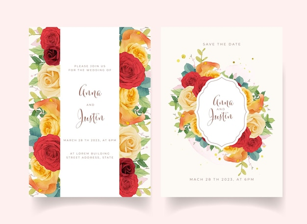 Tarjeta de invitacion floral