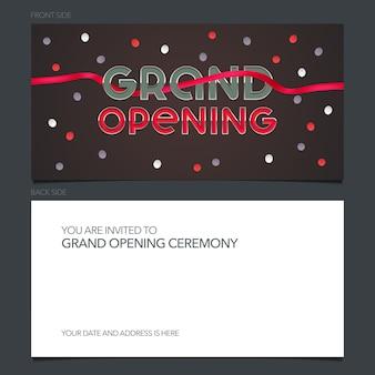 Tarjeta de invitación a la gran inauguración