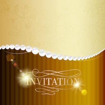 Tarjeta de invitación de joyería.