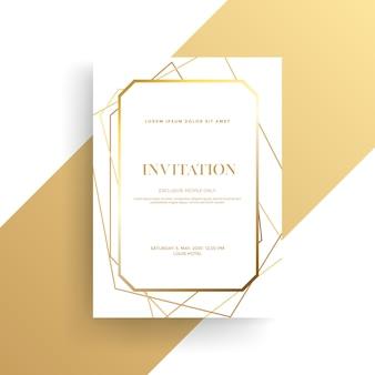 Tarjeta de invitación de lujo con textura dorada