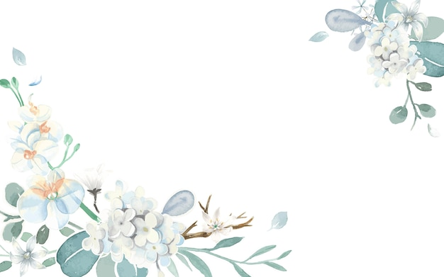 Tarjeta de invitación con un tema azul claro.