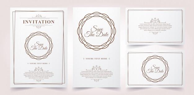 Tarjeta de invitación vintage de lujo