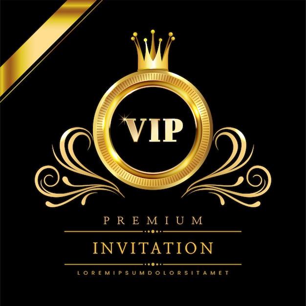 Tarjeta de invitación vip de lujo