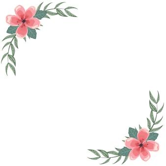 Tarjeta con marco de flores para la dedicación.