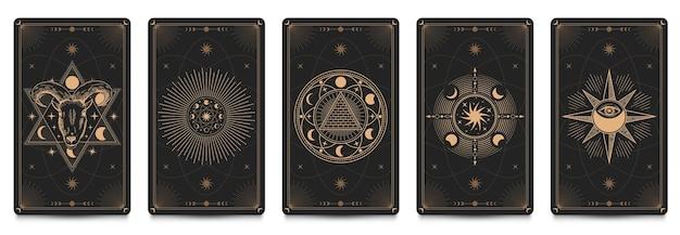 Tarjeta de marco místico.