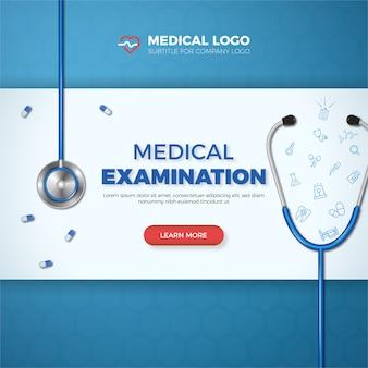 Tarjeta médica, banner de salud