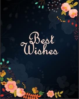 Tarjeta de los mejores deseos