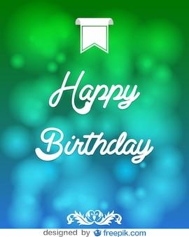 Tarjeta con mensaje de feliz cumpleaños